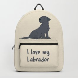 I love my Labrador Backpack