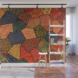 Japanese colorful quilt patchwork Wall Mural