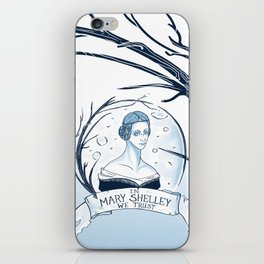 In Mary Shelley We Trust iPhone Skin