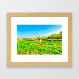 Summer Walks Framed Art Print