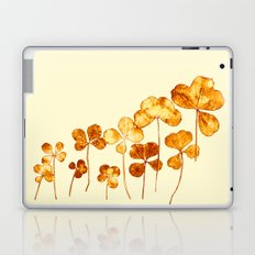 golden clover on cream- pink Laptop & iPad Skin
