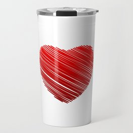 Scribbled red valentine heart- be my valentine Travel Mug