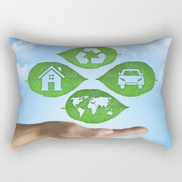 recycling eco concept Rectangular Pillow