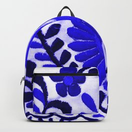 Beautiful Midnight Blue Mexican Flower Backpack