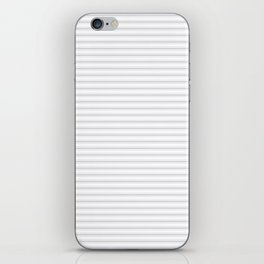 Soft Grey Mattress Ticking Narrow Striped Pattern - Fall Fashion 2018 iPhone Skin