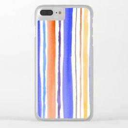 Vertical Stripes 4 Clear iPhone Case