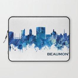 Beaumont Texas Skyline Blue Laptop Sleeve