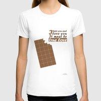 chocolate T-shirts featuring Chocolate by zabalza