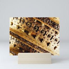 Roman Gold and Brown Warm Architectural Ceiling Art Mini Art Print