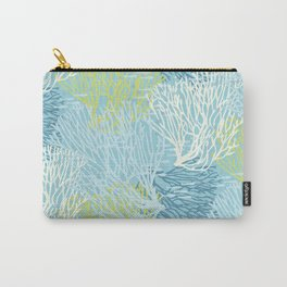Coastal Style Coral with Fish Carry-All Pouch