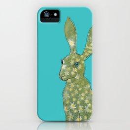 Esmeralda Hare with daisies iPhone Case