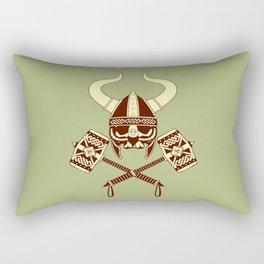 Viking skull v2 Rectangular Pillow