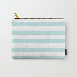 Simply Striped in Succulent Blue Stripes on White Carry-All Pouch