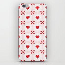 Seamless hearts pattern iPhone Skin