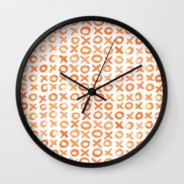 Xoxo valentine's day - orange Wall Clock