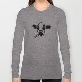 smoking cow Long Sleeve T-shirt