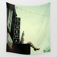 cinema Wall Tapestries featuring Cinema by Cassia Beck