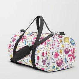Autumn Hedgerow Flowers Duffle Bag