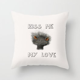 Kiss Me, My Love Throw Pillow