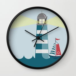 Sea Tower Wall Clock