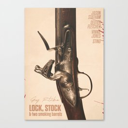 Lock, Stock and Two Smoking Barrels, Guy Ritchie, british film, Jason Statham, Vinnie Jones Canvas Print