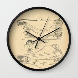1889 Patent Bicycle saddle Wall Clock