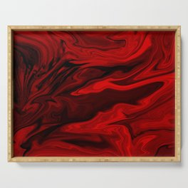 Blood Red Marble Serving Tray