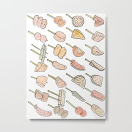 World of Japanese Kushikatsu Skewers Metal Print
