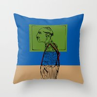 queens of the stone age Throw Pillows featuring Age by Hazel Bellhop