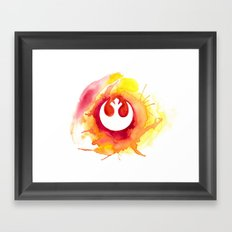 Star Wars Rebel Alliance Watercolor Framed Art Print