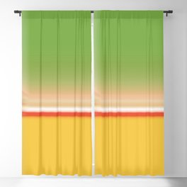 Green Yellow Glow Abstract Design Blackout Curtain