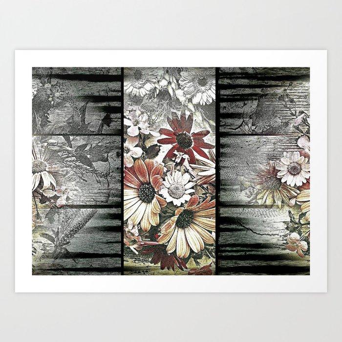 Fine floral flag Art Print