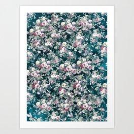 Vintage flowers - patten 2 Art Print
