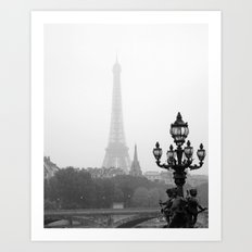Veiled Eiffel Tower Art Print