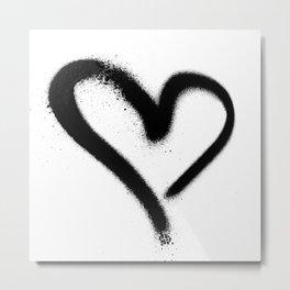 Spray Paint Heart Street Art Metal Print
