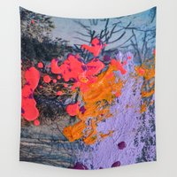 new jersey Wall Tapestries featuring New Jersey by Aniko Gajdocsi