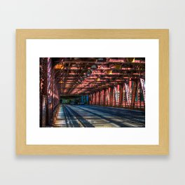 'Wells St. Bridge' Framed Art Print