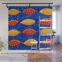Red and Yellow Fish Wall Mural