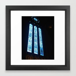 Liverpool Anglican Cathedral stained Glass Window by FGW Framed Art Print
