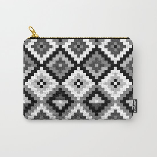 Aztec pattern - black & white Carry-All Pouch