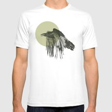 raven SMALL White Mens Fitted Tee