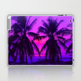 Pink Palm Trees by the Indian Ocean Laptop & iPad Skin