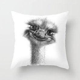 Hello-you ostrich sk130 Throw Pillow