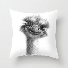 Hello-you ostrich sk130 Throw Pillow