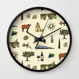 South of France pattern Wall Clock