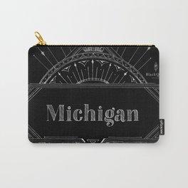 Black Art Deco Michigan Carry-All Pouch