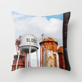 Sloss Furnaces Throw Pillow