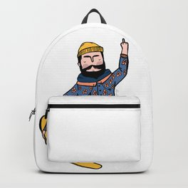 Casual flipping bird grab Backpack