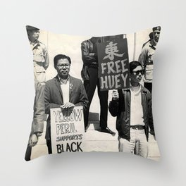 Free Huey - Inter-sectional Protest, 1960s Throw Pillow