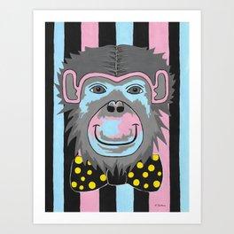 Chimp Off The Old Block Art Print